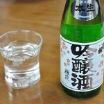 水車生そば - お酒(出羽桜)