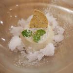 18101450 - アールグレイのパンナコッタ バラのグラニータ添え