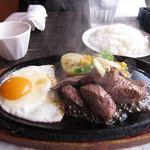 ステーキハウス一頭屋 - 牛肉の切り落としステーキランチ