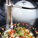 新鮮鮮魚と産直野菜の店 かぐやひめ - スモークの香り漂う魔法の煙カルパッチョ