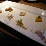 1811541 - グリル&ローストランチの前菜 盛り付けがカワイイ♪