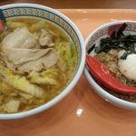 Doutomborikamukura - おいしいラーメン、チャーシューそぼろ丼セット