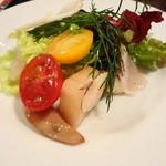 ピッツエリア ファッブリカ1090 - 2013年 これで全体の1/6程度@@  鎌倉野菜っぽいのやキノコなど15種類以上の野菜が入ってます~