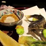 北新地 湯木 - 魚肴/揚げ物 2013.3