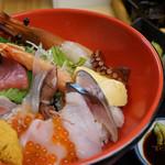 塩竈市場食堂 - 塩釜ぜいたく海鮮丼