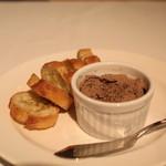 高田馬場 イタリア料理 フラットリア - 鶏白レバーのペースト ガーリック トースト添え