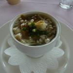 ポン・ヌフ - 鯛のコンソメ木の子スープ、カレー風味