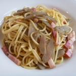 le Bleu - ベーコンとゴボウのアーリオ・オーリオ スパゲティ
