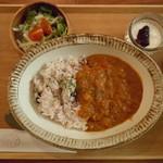 パレット食堂 - (2013.3)野菜たっぷり大豆カレー800円♪十五穀米を選択♪