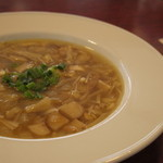ニューベリー カフェ - ランチセットのきのこスープ