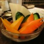 18121356 - お通しは生野菜のバーニャカウダ風