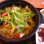 デニーズ - たっぷり野菜のスープごはん¥500