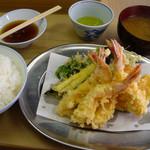 天婦羅 いもや - 天ぷらいもや(えび定食・800円)