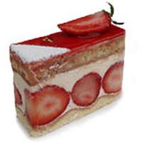 ル・ポミエ - フレジェ イチゴがたっぷり入った、フランスのショートケーキ。