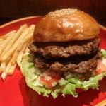 DOUBLE BURGER (w/French fries) - ダブルバーガー - (テイクアウトO.K!)