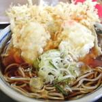 そば処 丸福 - かに天 大 1200円 2013.3