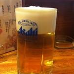 鳥彩 - 生ビール 500円