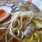 らぁめん倉崎 - 細いストレート麺
