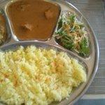1814534 - サフランライスのBセット チキンカレーと野菜カレー