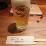 桂城 - まずは生ビールをいただきました。