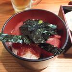 桂城 - マグロ丼もついてきます。
