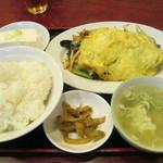 紅郷 - 野菜炒め定食 650円