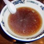 さかいや - あっさりしたスープ ややしょっぱめ