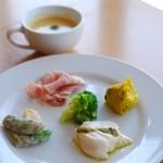 ぽちたまカフェ - ランチの前菜