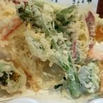 おまかせ料理まるやま - 野菜天 地味だが宮崎じゃあお見事。