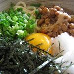 竹の子 - 五色は、納豆・大根おろし・海苔・葱・卵黄です。