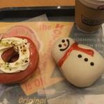 クリスピー・クリーム・ドーナツ - 2012/12/19 ストロベリー チーズケーキ、スノーマンチョコ