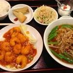 台湾料理 鴻翔 - エビチリ定食1080円