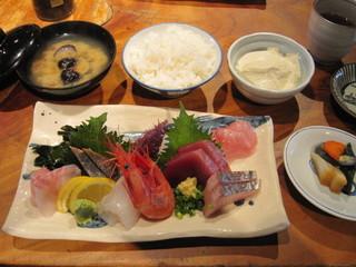 えぼし 茅ヶ崎本店 - 地魚刺盛定食 1,480円