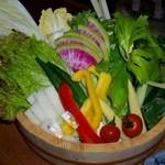 鶏鬨 - 生野菜