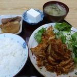 まごころ - 料理写真:豚キムチ定食(2013/04/02撮影)