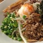 拉麺阿修羅 颯 - 2013年4月の限定麺「八丁味噌まぜそば」900円