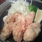 魚眞 - 広島県産カキフライ¥1200