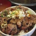 立ち焼きカルビ - 豚丼(600円)