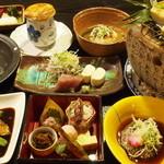 しし翁 - 料理写真:2013年4月 4,000コースの一例