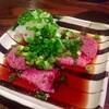 牛タン焼専門店 司 - 料理写真:H25.04 メニューに無い「牛タンのタタキ」1/2人前①