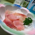 鯉とうなぎのまるます家 総本店 - 鯉生刺600円