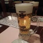 くしやき処 月とん - まずはビールで乾杯♪ H24.11