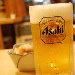 焼き鳥 千羽 - 生ビール