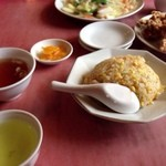 香楽 - 料理写真:チャーハンと唐揚げで