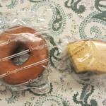 みかどパン店 - ドーナツとバームクーヘン各¥40