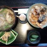 18174942 - ミニ天丼セット850円♪