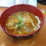 全国珍味・名物 難波酒場 - 饂飩入りのお味噌汁