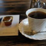 茶房こもん - ホットコーヒーとメイプルシロップ