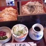 麺どころ いづみ - ランチのざるそばカツ重ランチ(ざるそば大盛り)(830円+200円)(2013.7)