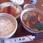 麺どころ いづみ - きしめんランチ(700円)(2013.11)